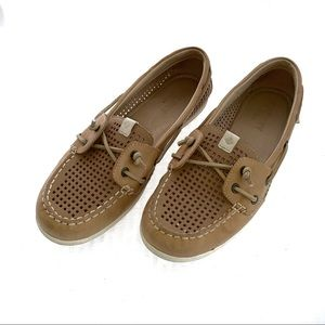Sperry Topsider womens 8M boat shoes tan leather